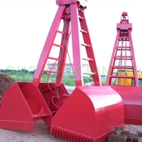 Coal Lifting Bulk Handling 5 Cubic Clamshell Grab Bucket Manufactures