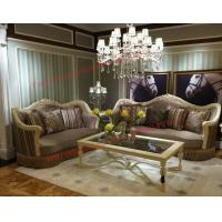 Luxury Design and Romantic Sofa set made by Wooden Carving Frame with Fabric Upholstery Manufactures