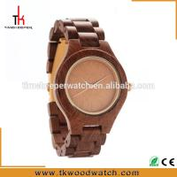 China Made from wood Japan movement Wood caseback engraved wood watch on sale