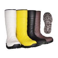China PVC Upper Material Safety Rain Boots steel toe rubber boots For Men Black Color on sale