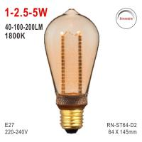 ST64 Bulb, LED Deco Light, E27 Bulb, Fashionable Glass Bulb, LED Candle, Dimmable Bulb Manufactures