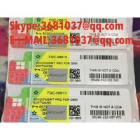 Quality SP1 Version Windows 7 Professional Product Key COA 32 / 64 Bit Operating Systems for sale
