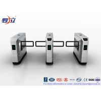High Speed Glass Swing Barrier Gate Retractable With UHF RFID Reader Manufactures