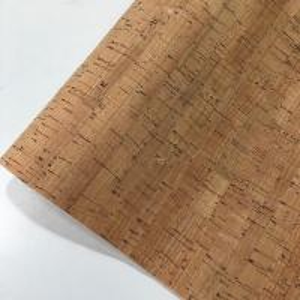 China Slub Veins Cork Leather Fabric , Thin Cork Roll Non Smell Anti Microbial on sale