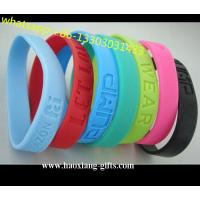 Promotional Charm 1/2 inches Sport  colorful silicone Wristband/Bracelet Manufactures