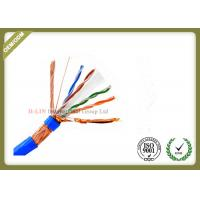 SFTP 23AWG 4Pairs 8 Conductors Indoor CAT6 Network Lan Cable with  Bare Copper  PVC/LSZH Jacket Manufactures