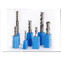 Aluminum 3 Flute Solid Carbide End Mill Use For Cutting , Small End Mill Long Life Manufactures