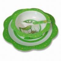 Plate/Dish Set, Customized Colors, Designs and Sizes are Accepted, Made of Melamine Manufactures