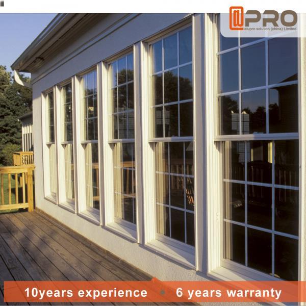 Quality Horizontal Aluminum Sash Windows PVDF Surface Treatment Color Optional for sale