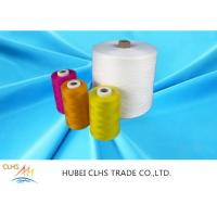Eco Friendly Nature White Polyester Core Spun Yarn Knotless Good Fastness Manufactures
