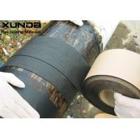 Geotextile Backed Self Adhesive Bitumen Tape , Protective Pipeline Coating Bituminous Tape Manufactures