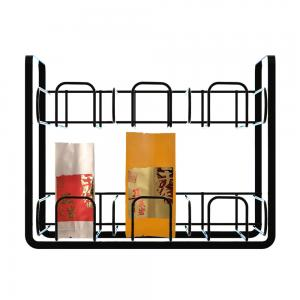 Welded 2layers Wire Food Display Stands For Tea Pack Manufactures