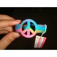 China Personalized Assorted Colored Custom Printed Sports Silicone Wristbands  on sale