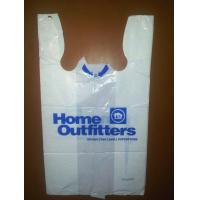 Supermarket Promotional Plastic t shirt bags hdpe recycled plastic bags for shopping Manufactures