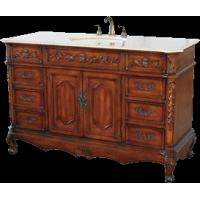 Antique Bathroom Vanity with marble countertop (model number tsvc008-56) Manufactures