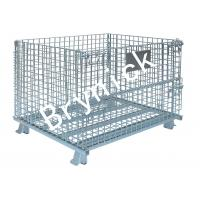 China 2 X 2 Wire Mesh Storage Boxes , Wire Folding Bulk Containers 4000 Lbs Capacity on sale
