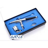 Professional dual action makeup132 airbrush gun , double action trigger Black / Silver Manufactures