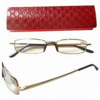 Metal reading glasses with case Manufactures