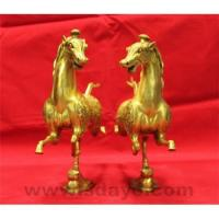 Bronze galloping horse  tread on bird (product is a pair) Manufactures
