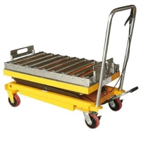 China #304 Stainless Rollers Low Profile 350kg Pallet Scissor Lift Platforms on sale