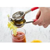 Professional 304 Stainless Steel Lemon Squeezer with Silicone Handle Lemon Juice Press Manufactures