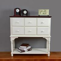 China Hallway Wood Console Table With Storage Assorted Colors Six Sliding Drawers on sale