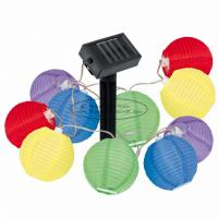 Buy cheap Silk Nylon Fabric Colored Lantern String Lights , 7.5 Cm Indoor String Lights For Bedroom from wholesalers