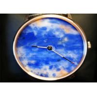 China Charming Natural Stone Crafts Quartz Movement Watch With Natural Marble Dial on sale