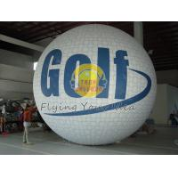 White Fireproof reusable inflatable advertising helium balloons for Sporting events Manufactures