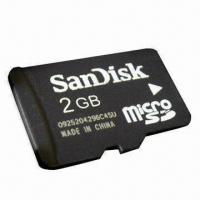 Quality 2GB microSD/SDHC with Original SanDisk Logo and Seamless Speed Function for sale