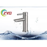 China Durable Bathroom Plumbing Accessories Desk Mounted Hot Cold Water Tap Faucet on sale