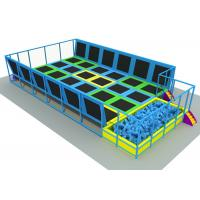 Anti UV Adults / Kids Trampoline Park Without Scratch 19*13*3m KP140625-1 Manufactures
