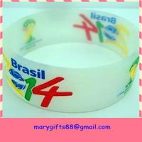 China wide brazil 2014 world cup silicone wristbands on sale