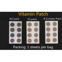 natural ingredients high quality vitamin B12 patch, vitamin energy patch, glutathione patch Manufactures