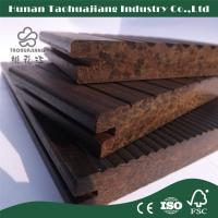 Bamboo Outdoor Flooring Eco Friendly Mildewprof Composite Decking Carbonized Color With FSC Approval Manufactures