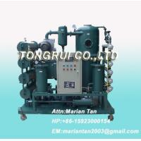 Quality ZJA Double-Stage Vacuum Transformer Oil  Purifier, Insulation Oil Recycling Machine for sale