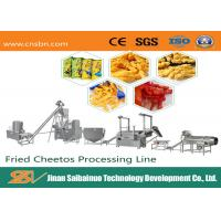 Industrial Corn Snacks Making Machine Cheese Processing Extruder Line No Pollution Manufactures