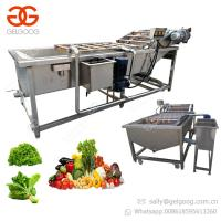 Industrial Air Bubble Cleaning Machine Carrot Apple Date Fruit And Vegetable Washing Machine Manufactures