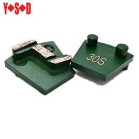 China S shape diamond segments of Plug N Go Toolings for grinding and polishing concrete on sale