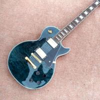 New style high quality custom LP Style electric guitar Gold Hardware in Blue Quilte Maple Electric Guitar Free Shipping Manufactures