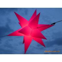 China Color Star Inflatable Lighting With Red  For Christmas Decoration on sale