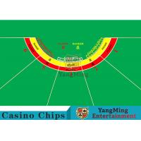 Waterproof Half Round Casino Table Layout With Specialized Patterns / Colors Manufactures