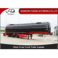 38000 Liters Deliver Crude Oil Tanker Trailer 3 Compartments With Mechanical Or Air Suspension Manufactures