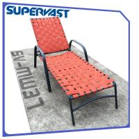 Cheap Outdoor Furniture Garden Patio Chairs Cross Weave Garden Patio Strap Chaise Lounge Manufactures