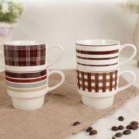 China Stackable Coffee Travel Cup , Coffee Ceramic Mug Advertising Promotion Gift on sale