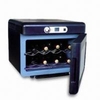 Hollow Double Glass Door Wine Cooler Box with Anti-drop Shelves, 10 to 18°C Temperature Control Manufactures