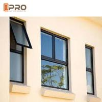 Standard Size Aluminium Single Glass Door And Windows Swing Open Style Manufactures