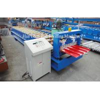 China 4 Kw Trapezoidal Roof Panel Roll Forming Machine With Hydraulic Cutter on sale