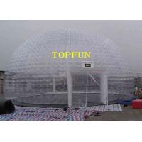 China 8m Diameter Inflatable Party Tent Clear Dome Tent Noncontinuous Type on sale