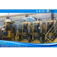 Large Size Yellow ERW Pipe Mill Pipe Making Machine Round Shape Max 25m / Min Speed Manufactures